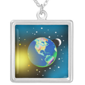 Tierra, Sun y collar de la luna