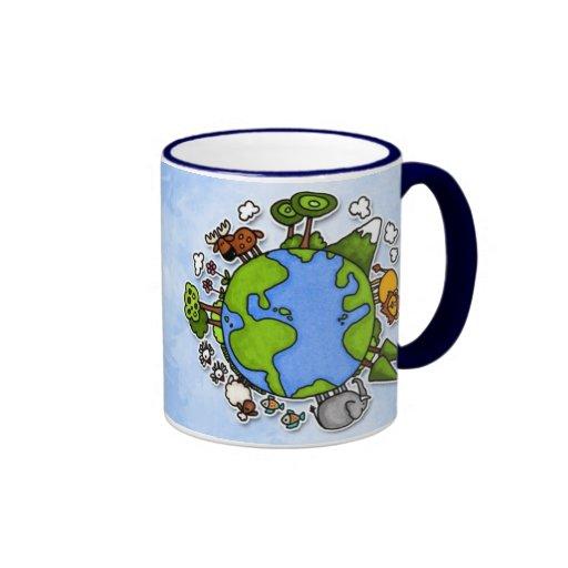 tierra tazas de café