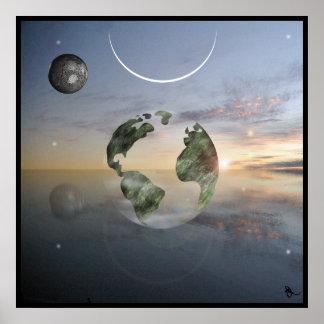 Tierra transparente posters