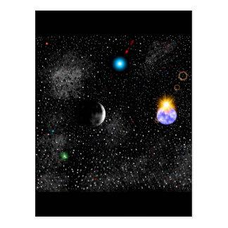 tierra tridimensional y opinión de Outerspace Postal