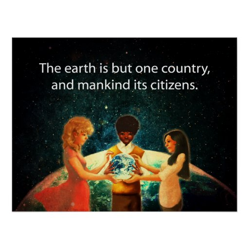 Tierra un país póster