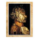 Tierra - una cabeza integrada por diversas criatur tarjetas postales