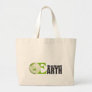 Tierra verde - bolso bolsa tela grande