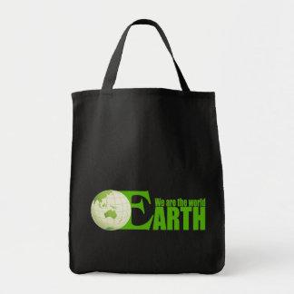 Tierra verde - bolso bolsa tela para la compra