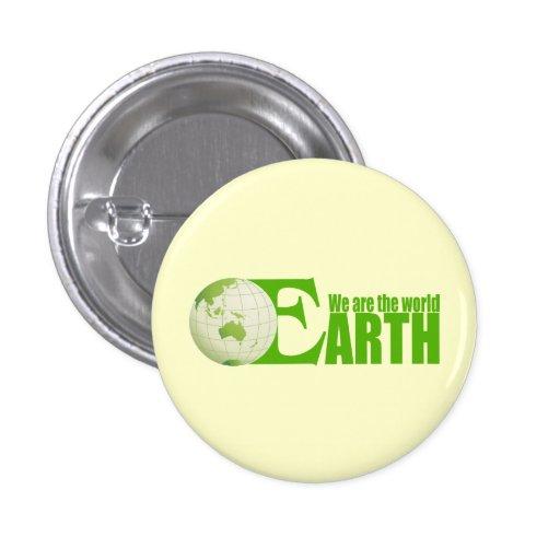 Tierra verde - botón cuadrado pins
