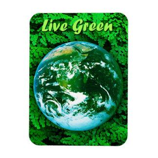 Tierra verde - conciencia ecológica imanes flexibles