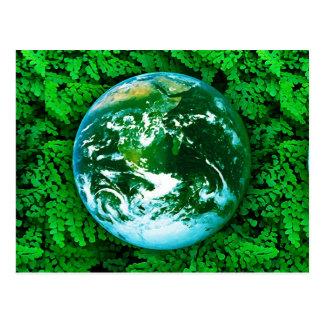 Tierra verde - conciencia ecológica tarjeta postal