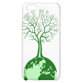 Tierra verde de Eco y cubierta amistosas de iPod d