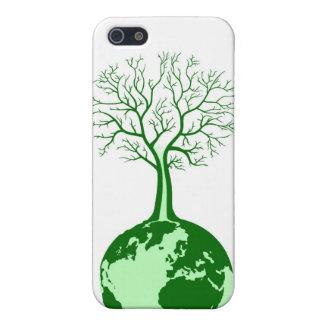 Tierra verde de Eco y cubierta amistosas de iPod d iPhone 5 Coberturas