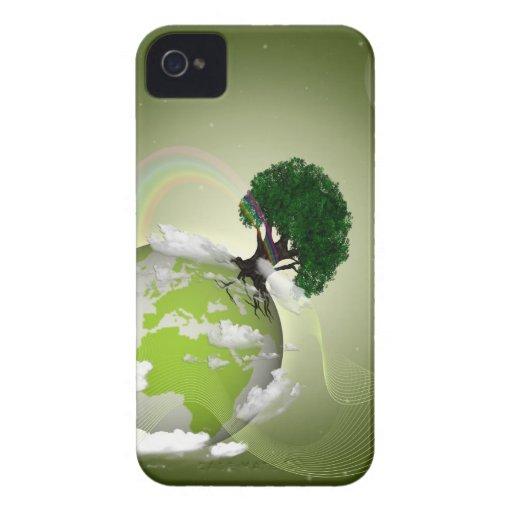 tierra verde iPhone 4 protectores
