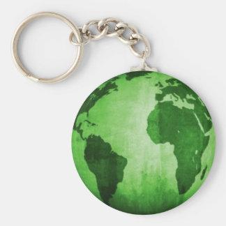 Tierra verde llavero redondo tipo pin