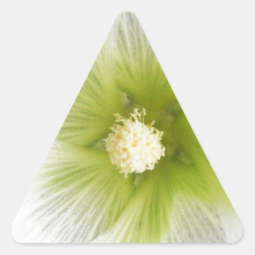 tierra verde natural natural Desig hermoso de los Pegatina Triangular