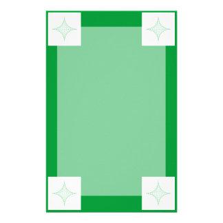 Tierra (verde) personalized stationery
