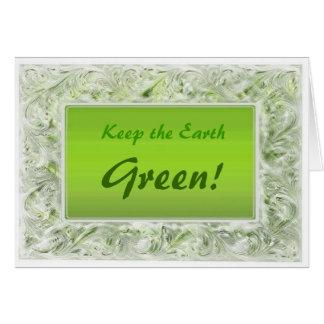 Tierra verde tarjeta de felicitación