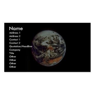 Tierra, vista de Apolo 17, 1972, cortesía de la NA Tarjetas De Visita