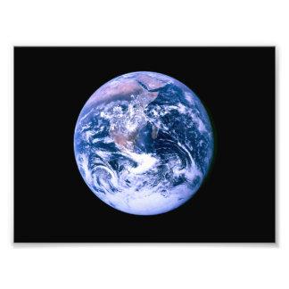 Tierra vista de espacio impresion fotografica