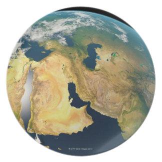 Tierra vista de espacio platos
