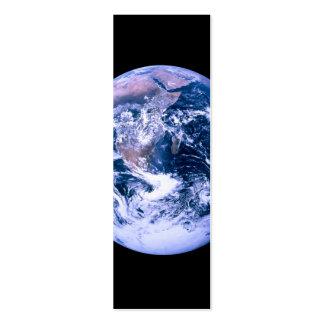 Tierra vista de espacio tarjetas de visita mini