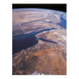 Tierra vista de espacio tarjetas postales