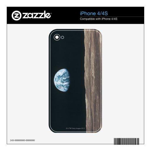 Tierra vista de la luna calcomanía para el iPhone 4S