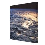 Tierra vista de un satélite impresion en lona
