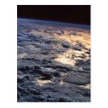 Tierra vista de un satélite tarjeta postal