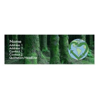 Tierra viva amistosa tarjetas de negocios