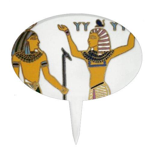 Tierra y aire Geb y Shu Egyption Decoración Para Tarta
