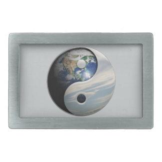 Tierra y cielo Yin Yang Hebilla De Cinturón Rectangular