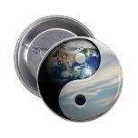 Tierra y cielo Yin Yang Pin Redondo 5 Cm