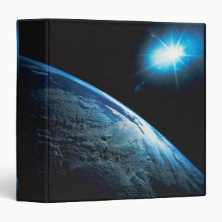 Tierra y estrella del planeta del espacio