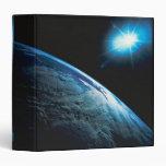 """Tierra y estrella del planeta del espacio carpeta 1 1/2"""""""