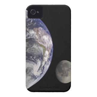Tierra y luna carcasa para iPhone 4