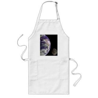 Tierra y luna de Galileo Delantal