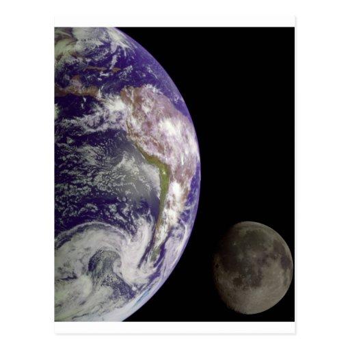 Tierra y luna de Galileo Tarjeta Postal