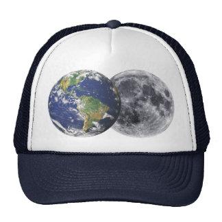 Tierra y luna gorras de camionero