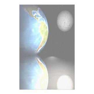 Tierra y luna inmóviles papelería