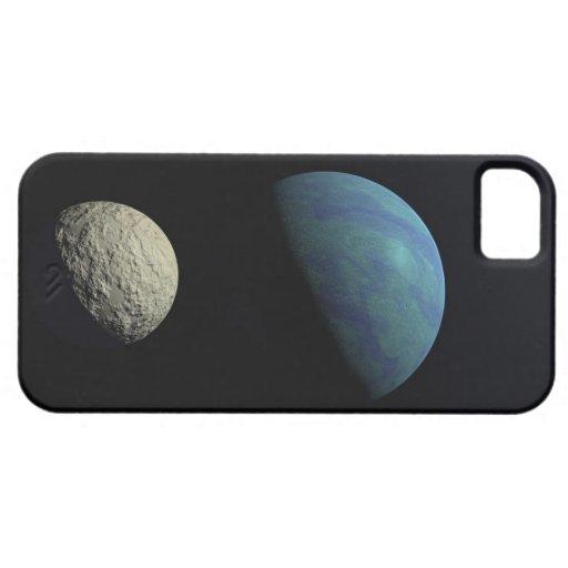 Tierra y luna iPhone 5 carcasa