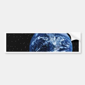 Tierra y luna pegatina de parachoque