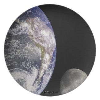 Tierra y luna plato de cena