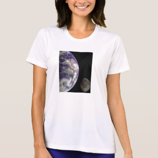 Tierra y luna por la ropa de las señoras de Galile Camiseta