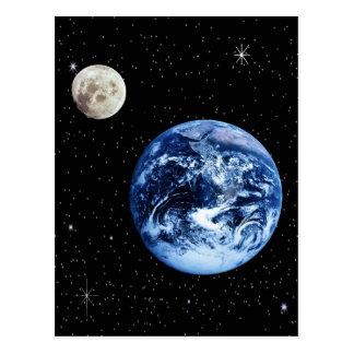 Tierra y luna postales