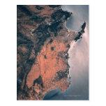 Tierra y mar del espacio 3 postales