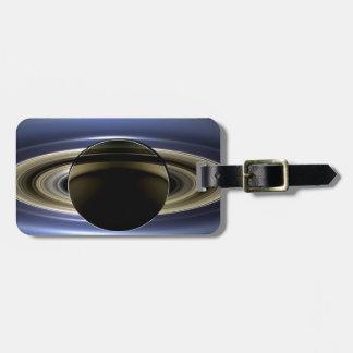 Tierra y Saturn Etiqueta De Maleta