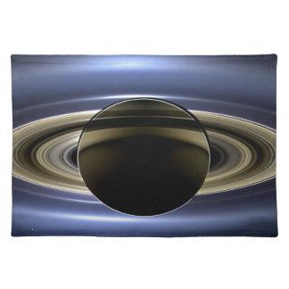 Tierra y Saturn Manteles Individuales