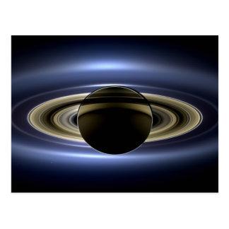 Tierra y Saturn Tarjetas Postales