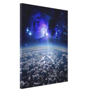 tierra y universo, mundo hermoso por el lona estirada galerías