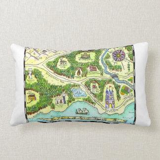 Tierras de la almohada del mapa del cuento de