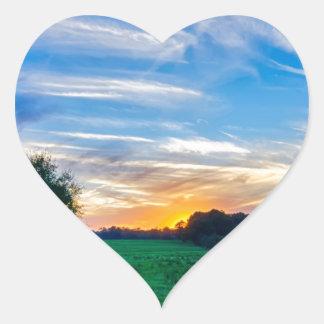 tierras de labrantío Carolina del Sur el condado Pegatina En Forma De Corazón