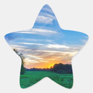 tierras de labrantío Carolina del Sur el condado Pegatina En Forma De Estrella